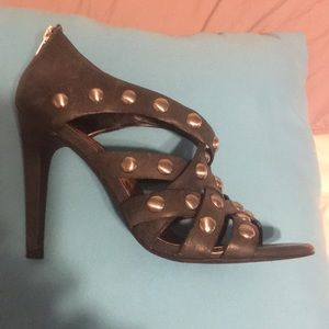 Jessica Simpson Black Studded Heels